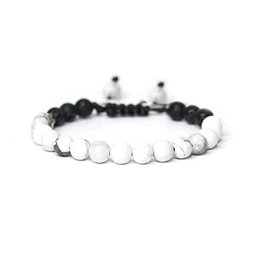 Boy Girls 6mm Lava Rock 7 Chakra Aromatherapy Essential Oil Diffuser Bracelet Kids Adjustable Natural Stone Yoga Beads Bracelet Bangle (CALM)