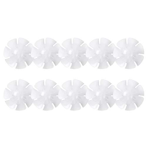 inhzoy 10 Stück Mini Lüfterflügel Kunststoff 7 oder 9 Blätter Lüfterflügel Elektromotoren Ventilator Fans Haartrockner Zubehör Clear Sieben Blätter