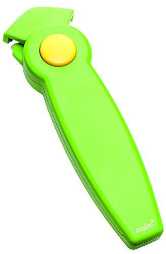 Moha Easy Open Schraubdeckelöffner, ABS, Edelstahl, grün/gelb, 6 x 20.5 x 3.5 cm