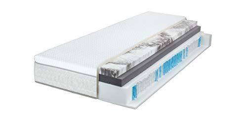 Breckle Sinfonia 1000 TFK Gel Turn 7-Zonen Boxspring-Matratze H2/H3 integrierter Wendetopper, Größe:100x200 cm