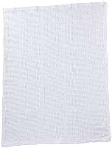 Clair de Lune Pram & Travel Extra Doux Coton Couverture Cellulaire (Blanc)