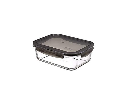 LocknLock Oven Glass Glas Frischhaltedose mit Deckel 1 L, 200 x 152 x 74mm, Rechteckig, Kühlschrank-, gefriertruhen- und spülmaschinengeeignet, Borosilikat-Glas bis 400°C ofen- & mikrowellenfest