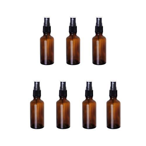 Beaupretty 7 Pcs Vide Vaporisateur D'alcool Vide Bouteille Rechargeable pour Les Huiles Essentielles Aromathérapie Eau Liquide Lotion de Maquillage Émollient 50 Ml