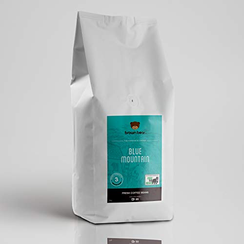 Brown Bear Blue Mountain Kaffeebohnen, Mittlere Röstung, 1 kg Kaffee Ganze Bohnen Medium Roast Coffee Beans, 5 % der Verkäufe werden an die gemeinnützige Einrichtung Free the Bears
