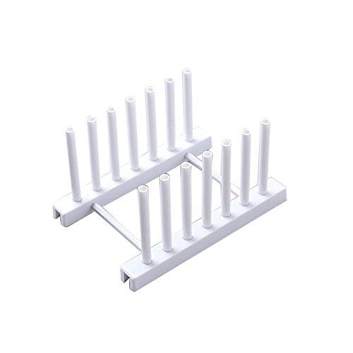 Li-HIM Rutschhemmende Abtropfbrett, Langlebige Abnehmbare Einfach Zur Installation Schüssel Tassen Für Die Küche Setzen Kann,Weiß