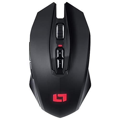 Lioncast LM40 WL Wireless Gaming Mouse Senza Fili da Gioco (RGB, sensore Ottico PMW-3360, 12.000 DPI, Batteria agli ioni di Litio, Dual-Mode con Cavo)