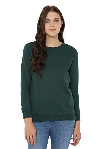 Allen Solly Women's Synthetic Sweatshirt (AHSTCRGFH72402_Green_Medium)