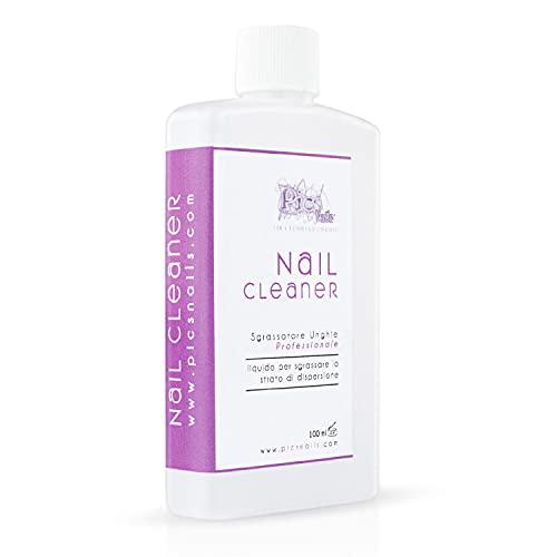 Nail Cleaner Sgrassatore per Unghie Professionale 100 ml - Sgrassante per Unghie di Alta Qualità, Rimuove lo strato di dispersione (appiccicoso) dalla Unghie Ricostruite in Gel Costruttori