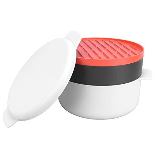 Lantuqib Olla del Vapor del arroz, Buen Funcionamiento plástico de la Caja del Horno de microondas para el hogar para la Cocina