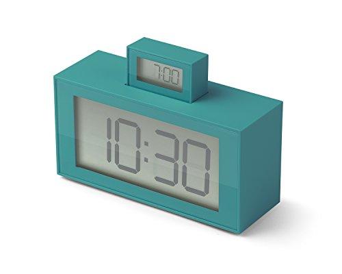 Lexon lr139V56InOut Despertador abs Turquesa 11,5x 4x 7,9cm