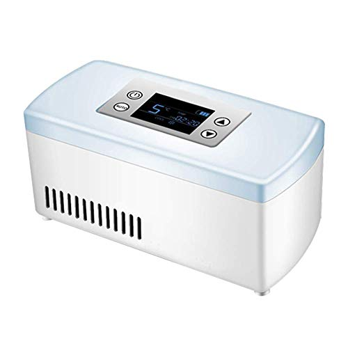 LXYZ Mini Neveras Refrigerador de medicinas y Enfriador de insulina para automóvil, Viaje, hogar - Estuche portátil de refrigeración para automóvil/Caja de Viaje pequeña para medicamentos