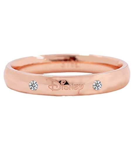 ディズニー リング 指輪 サージカルステンレス 316L 24金加工 スワロフスキー サージカル メンズ 11号 結婚指輪 ペアリング ピンクゴールド PG ステンレス [並行輸入品]