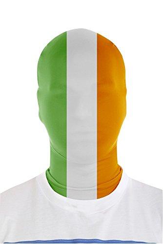 Morphsuits - Maschera, motivo: Bandiera irlandese, Taglia unica