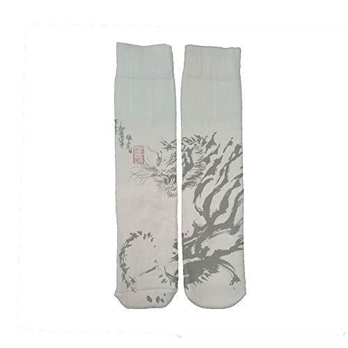 Babu Building Tessuto Di Cotone Stampa Asian Tiger Per Long Socks Guy Creativit¨¤ Choose Design 1-3