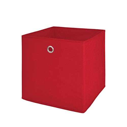 Möbel Akut Faltbox 4er Set in rot, Aufbewahrungsbox für Raumteiler oder Regale