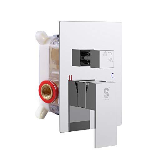 SR SUN RISE Square Pressure Balancing Shower Valve Control Polished Chrome SRSH-5044-K