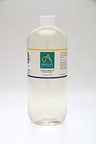 Absolute Aromas Aceite líquido de coco Fraccionado 1L - 100{e5e8bb704115fa3bfe426596080ef71c08a8f7591900bb87d60db3a66688f225} Puro, Natural, Sin Esencia, sin Crueldad Animal, Vegano, Sin OGM - Aceites para el Cabello, Piel, Masaje o Aromaterapia