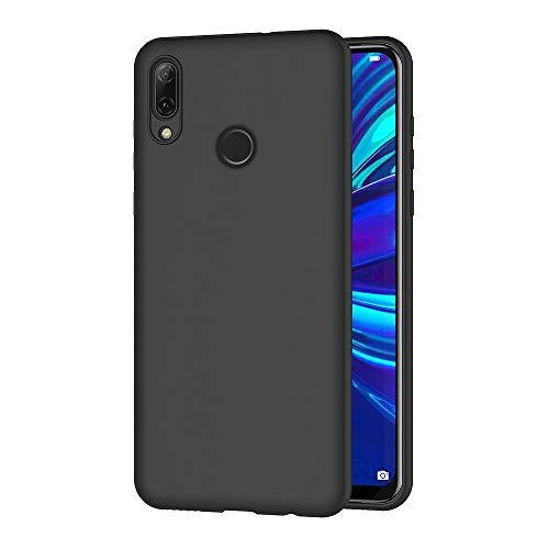 AICEK Cover per Huawei P Smart 2019, Cover P Smart 2019 Nero Silicone Case Molle di TPU Sottile Custodia per Huawei P Smart 2019 (6.21 Pollici)