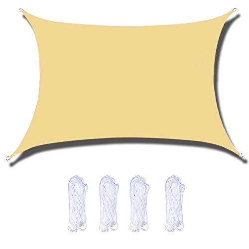 Sombrilla de toldo impermeable de poliéster de alta calidad, efecto protector solar, impregnado de poliuretano, resistente al polvo y al viento., 10'x10'