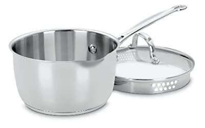 Cuisinart 719-18P Chef's Classic Stainless 2-Quart Saucepan with Cover,Silver