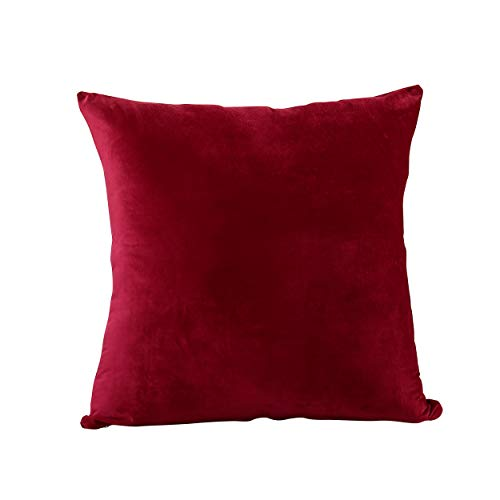 """EVOLIVE Soft Micromink, Faux Fur, Faux Suede Body Pillow Cover Replacement with Zipper Closure (Wine, 21""""X54)"""