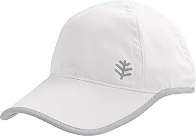 Coolibar UPF 50+ Kids' Lenny Sports Cap - Sun Protective (Large/X-Large- White/Silver)