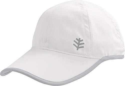 Coolibar UPF 50+ Kids' Lenny Sport Cap - Sun Protective (Large/X-Large- White/Silver)