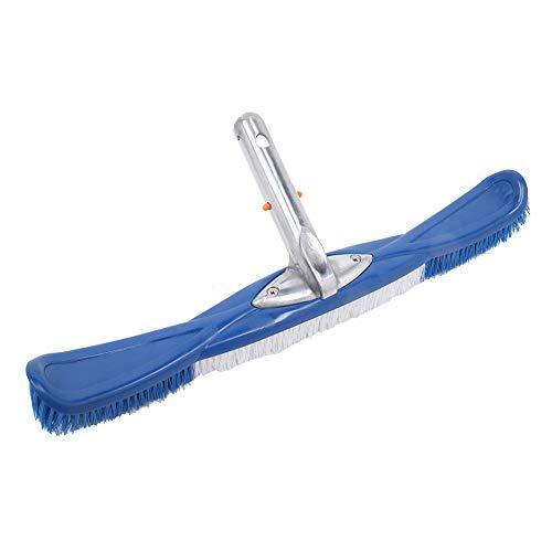 LPWUK Cepillo de limpieza de pared con mango de aluminio, herramienta de limpieza de piscina, estanque de piscina, cepillo de piscina