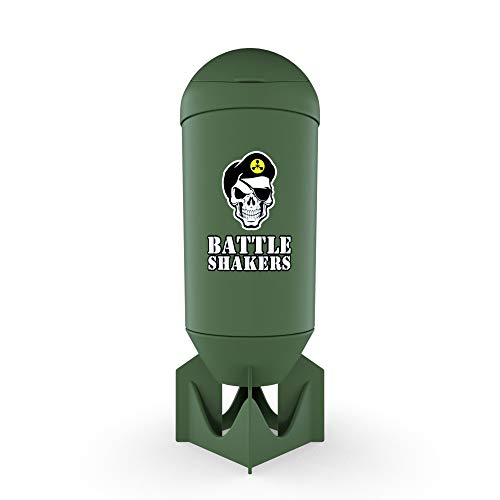 Battle Shakers Bomb Shaker Cup   20 Oz Leak-Proof Shaker Bottle   Protein Cup with Storage Compartment   Dishwasher Safe & BPA Free Sports Bottle