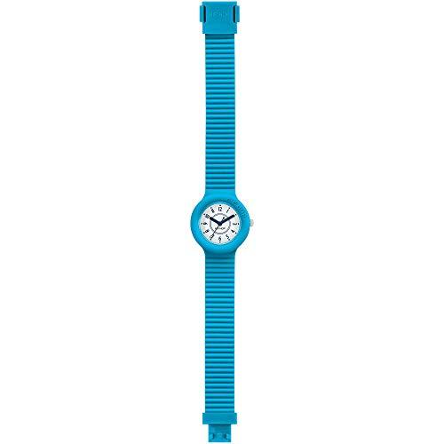 Orologio HIP HOP donna NUMBERS COLLECTION quadrante bianco e cinturino in silicone azzurro mare, movimento SOLO TEMPO - 3H QUARZO