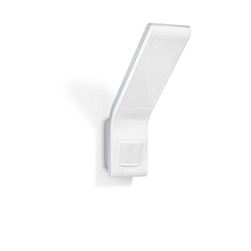 Steinel LED-Strahler XLED slim weiß, 10.5 W, 660 lm, LED Wandleuchte, 160° Bewegungsmelder, 8 m Reichweite, modern