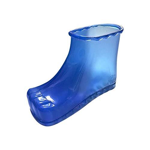 DFSF Mujeres Foot Soak Bath Therapy Zapatos De Masaje Botines De Relajación Acupoint Sole Home Pies Cuidado Agua Caliente Zapatos-Azul_Una