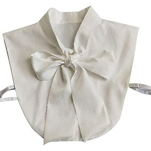 YEKEYI Cuello falso de la mitad de la camisa de la blusa de la camisa falsa del cuello del suéter del vestido del cuello grande del, blanco, M/grande