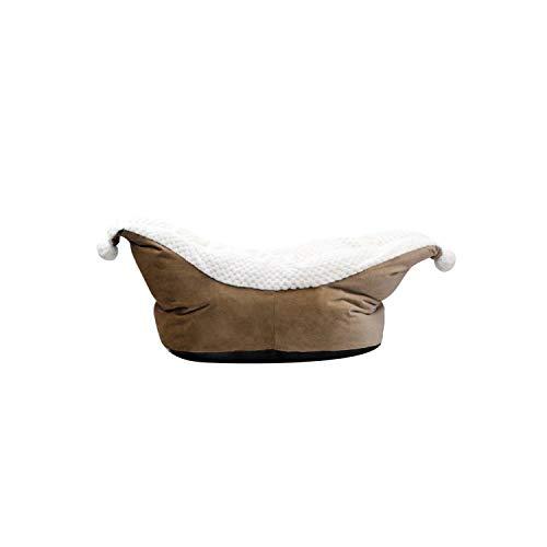 Dream-catching Dresses Hundebett |Bootsform Weiches Fleece Welpenhundebett Bequemes Haustier Hund Schlafmatten Haussofa Warmes Fleece Hundebetten Welpen Nest 910-Kaffee-
