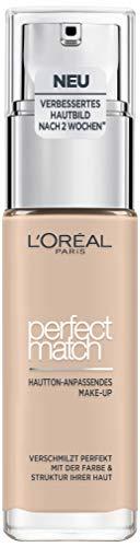 L'Oréal Paris Perfect Match Make-up 1.R/1.C Rose, flüssiges Make-up, für einen natürlichen Teint, mit Hyaluron und Aloe Vera