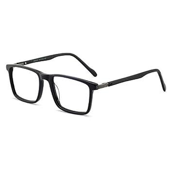 OCCI Men eyewear frame Eyeglasses Square Glasses Clear Lense Glasses Men 52mm Bright black
