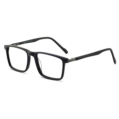 Men eyewear frame RX-Able Eyeglasses Non-Prescription Square Glasses 52mm Bright black