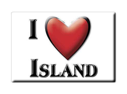 Enjoymagnets Island (89) Souvenir IMANES DE Nevera Francia Lorraine IMAN Fridge Magnet Corazon I Love