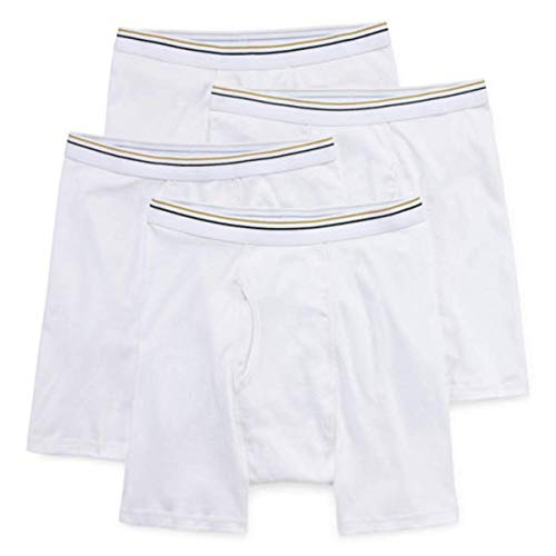 Stafford 4 Pack Boxer Briefs (Large) White