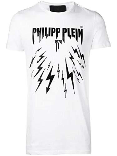 PHILIPP PLEIN Luxury Fashion Uomo P19CMTK3241PJY002N01 Bianco Cotone T-Shirt | Stagione Outlet