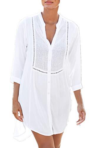 AiJump Túnica Vestido de Playa Kimonos Pareos Bohemia Camisa Verano para Mujer