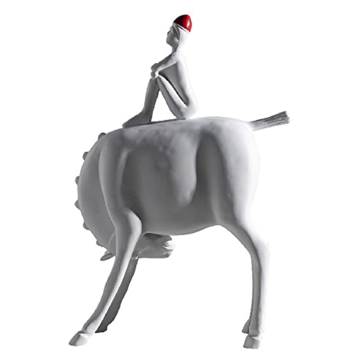 Jongen Te Paard Statues Sculptures Decorative,Abstract Kunstwerk Creatief Decoration Figures,Kinderlijk Grappig Statue…