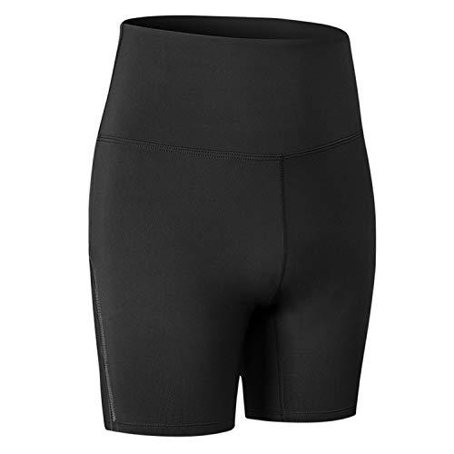 Pantalones de yoga para mujer, mallas de 1/2 longitud, pantalones cortos de ciclismo activos para mujer, pantalones deportivos casuales, pantalones cortos antidesgaste debajo del vestido,Negro,L