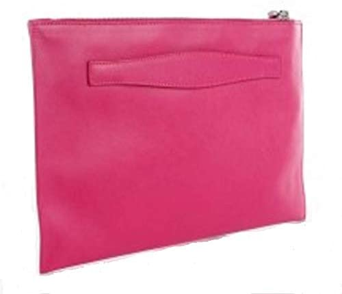 Prada Saffiano Lux Leather Fuxia Pink Zipper Clutch Pouch Wristlet Bag BP868T product image