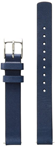Skagen Women's 12mm Leather Calfskin Watch Strap, Color: Blue (Model: SKB2043)
