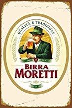 Sarmoo Birra Moretti Italiaans Italië Bier Metalen Wandbord Retro Plaque Poster Vintage Decoratie - 8x12 inch