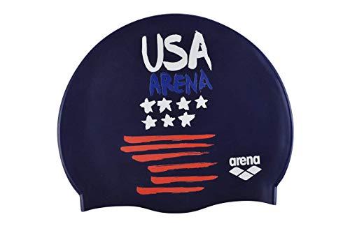 Arena Flags Silicone cap, Cuffie da Nuoto Unisex Adulto, Blu (USA), Taglia Unica