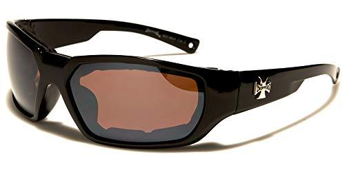 Wrap 8CP927MIX - Gafas de Sol para Moto o Moto, Acolchadas con Almohadillas de protección Envolvente, para Mujer y Hombre