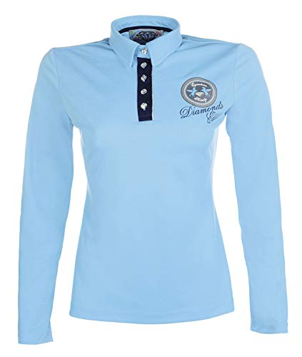 HKM Poloshirt -Diamonds Shine-, türkis/Aqua, L