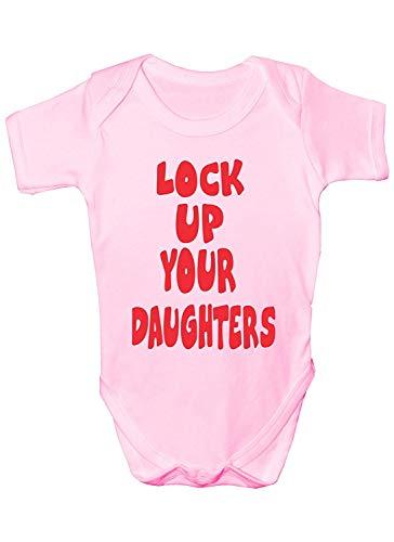 """Mesllings Baby-Strampler mit Aufschrift """"Lock Up Your Daughters"""", lustiges Geschenk für Jungen Gr. 80, multi"""